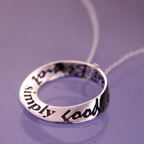 Thoreau's Advice Small Sterling Silver Necklace - Inspirational Jewelry Photo