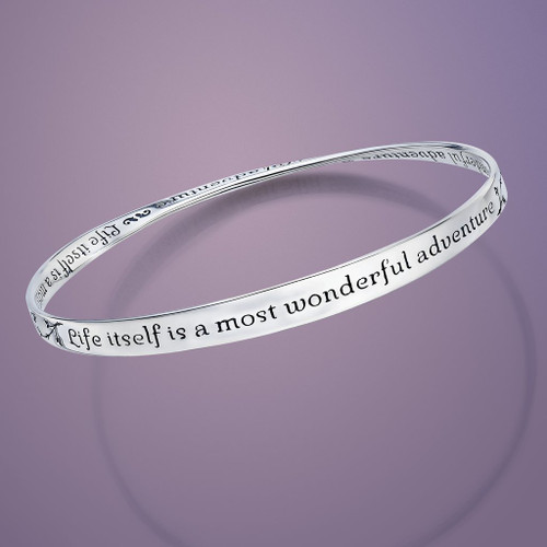 Wonderful Adventure Sterling Silver Bracelet - Inspirational Jewelry Photo