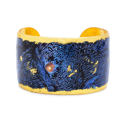 Blue Clam Cuff - Gold - Museum Jewelry - Museum Company Photo