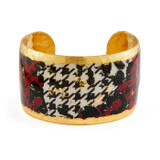 Houndstooth Black,White & Red Cuff - Museum Jewelry - Museum Company Photo