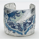 Blue Metropolitan Butterfly Cuff - Silver - Museum Jewelry - Museum Company Photo