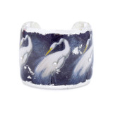 Snowy Egret Cuff - Museum Jewelry - Museum Company Photo