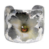 White Flowers Cuff - Silver - Museum Jewelry - Museum Company Photo