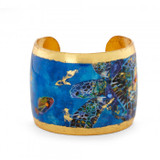 Blue Mosaic Sea Turtles Cuff - Museum Jewelry - Museum Company Photo