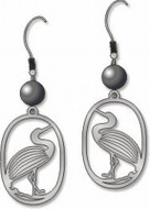 Egret Earrings - Photo Museum Store Company