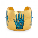 Blue Palm Reading Cuff - Museum Jewelry - Museum Company Photo