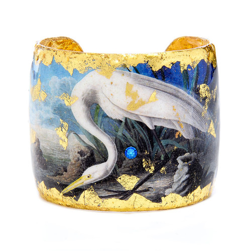 Great Egret Blue Cuff - Museum Jewelry - Museum Company Photo
