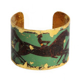 Greek Horses Cuff - Green - Museum Jewelry - Museum Company Photo