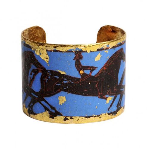 Greek Horses Cuff - Blue - Museum Jewelry - Museum Company Photo