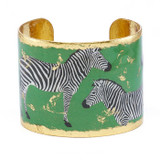 Zebra Dreams Cuff - Green - Museum Jewelry - Museum Company Photo