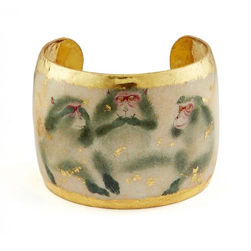 Three Wise Monkeys Cuff - Museum Jewelry - Museum Company Photo