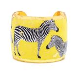 Zebra Dreams Cuff - Yellow - Museum Jewelry - Museum Company Photo
