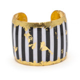 Black & White Stripes Cuff - Museum Jewelry - Museum Company Photo
