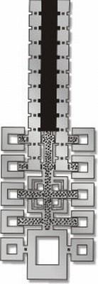 Hollyhocks Pin  - Frank Lloyd Wright - Photo Museum Store Company