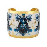 Rorschach Black & Blue Cuff - Museum Jewelry - Museum Company Photo