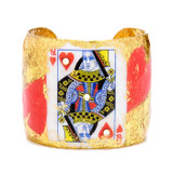 Queen of Hearts Cuff - Gold - Museum Jewelry - Museum Company Photo