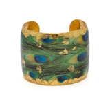 Feathered Peacock Cuff - Museum Jewelry - Museum Company Photo