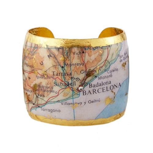 Barcelona Map Cuff - Museum Jewelry - Museum Company Photo