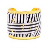 Wrapped Ribbon Cuff - Black - Museum Jewelry - Museum Company Photo