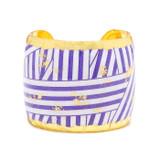 Wrapped Ribbon Cuff - Purple - Museum Jewelry - Museum Company Photo