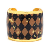 Harlequin Black & Taupe Cuff - Museum Jewelry - Museum Company Photo