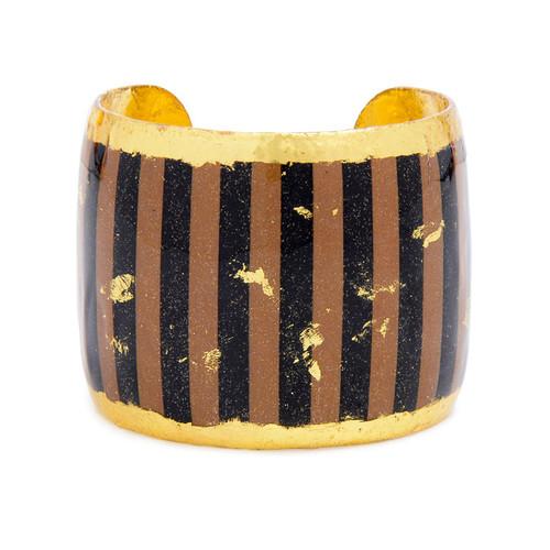Taupe & Black Stripes Cuff - Museum Jewelry - Museum Company Photo