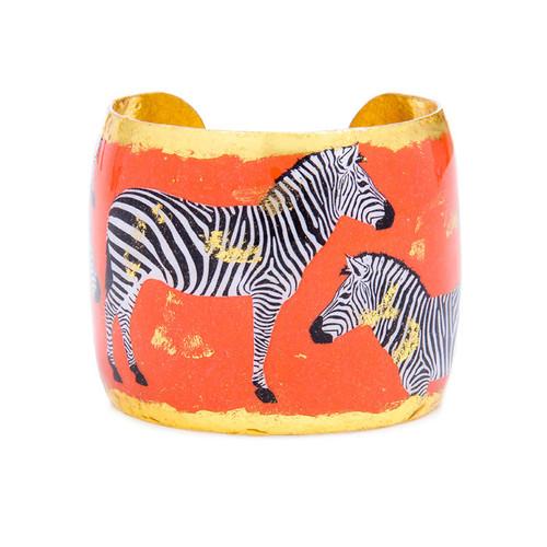 Zebra Dreams Cuff - Orange - Museum Jewelry - Museum Company Photo