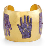 Purple Palm Reading Cuff - Museum Jewelry - Museum Company Photo