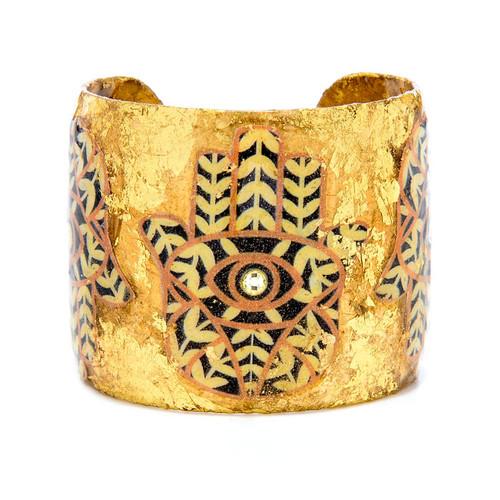 Hamsa Cuff - Gold - Museum Jewelry - Museum Company Photo