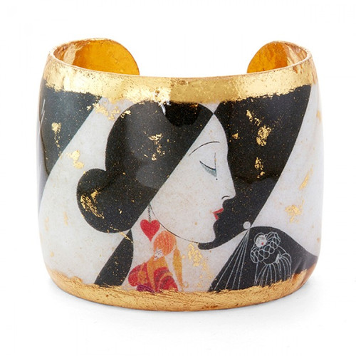 Erté B&W Dolls Cuff - Museum Jewelry - Museum Company Photo
