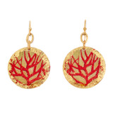Red Coral Disc Earrings - Museum Jewelry - Museum Company Photo