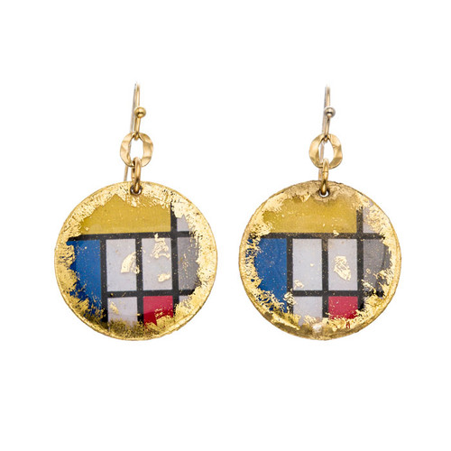Mondrian Disc Earrings - Museum Jewelry - Museum Company Photo