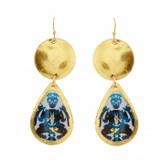 Rorschach Mini Teardrop Earrings - Museum Jewelry - Museum Company Photo