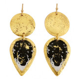 Rorschach Mini Teardrop Earrings-daggers - Museum Jewelry - Museum Company Photo