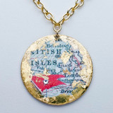 Titanic Single Sided Map Pendant - Museum Jewelry - Museum Company Photo