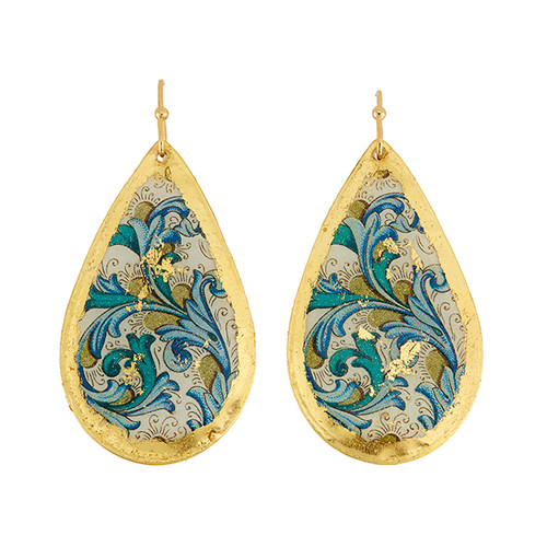 Blue Firenze Medium Teardrop Earrings - Museum Jewelry - Museum Company Photo