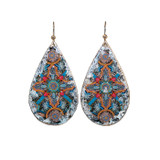 Charlemagne Teardrop Earrings - Silver - Museum Jewelry - Museum Company Photo