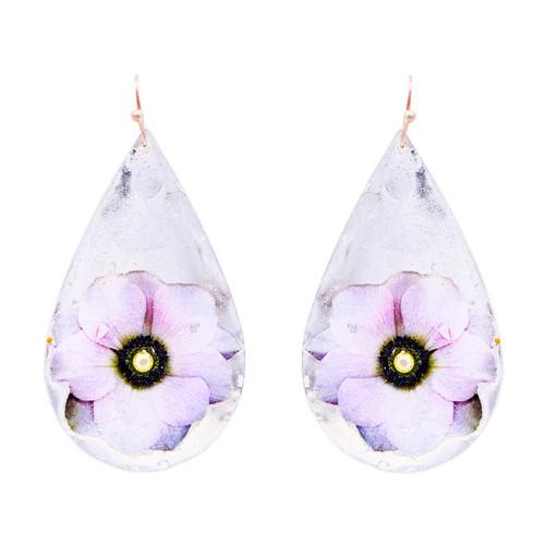 Anemone Teardrop Earrings - Silver - Museum Jewelry - Museum Company Photo