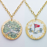 Titanic Map Pendant - Double Sided - Museum Jewelry - Museum Company Photo