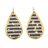 Black & White Teardrop Earrings - Museum Jewelry - Museum Company Photo