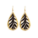 Zebra Teardrop Earrings - Museum Jewelry - Museum Company Photo