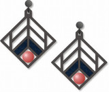Walser House Earrings - Frank Lloyd Wright - Photo Museum Store Company