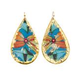Sea Floral Teardrop Earrings - Museum Jewelry - Museum Company Photo