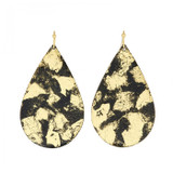 Island Large Teardrop Earrings - Black/Gold - Museum Jewelry - Museum Company Photo