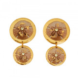 Sand Dollar Double Drop Earrings - Museum Jewelry - Museum Company Photo