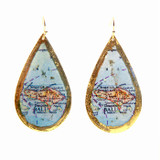 Bali Map Teardrop Earrings - Museum Jewelry - Museum Company Photo