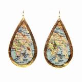Hong Kong Map Teardrop Earrings - Museum Jewelry - Museum Company Photo