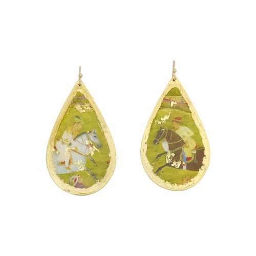 Indian Polo Teardrop Earrings - Museum Jewelry - Museum Company Photo