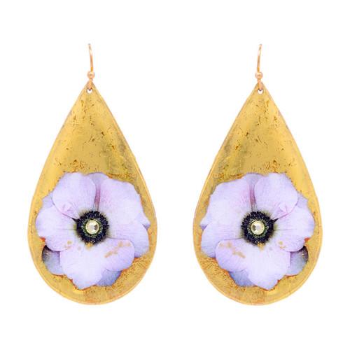 Anemone Teardrop Earrings - Museum Jewelry - Museum Company Photo