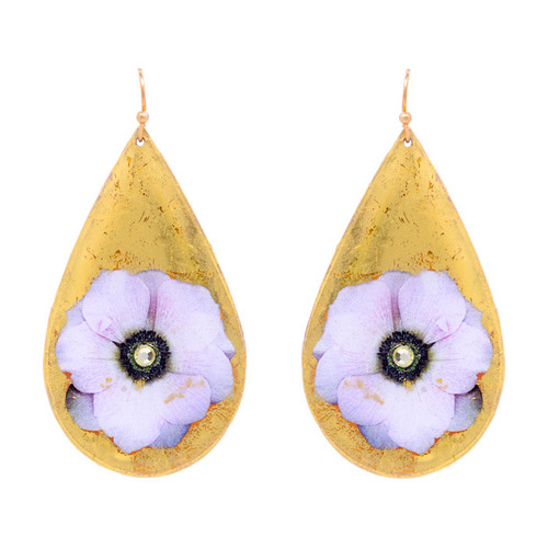 Anemone Teardrop Earrings - Museum Jewelry - Museum Company Photo